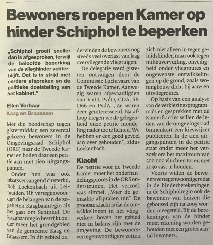 Algemeen Dagblad 8 februari 2017